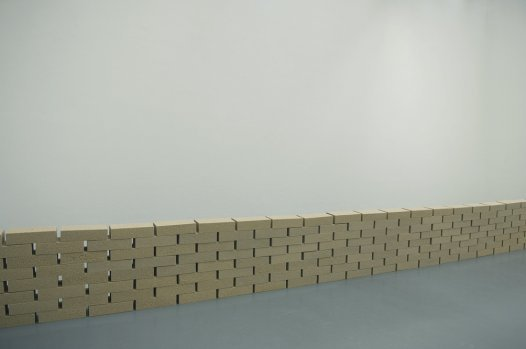 mur de sable, collection MUDAM 2011, Luxembourg